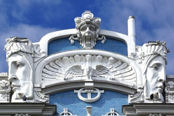 Riga House Facade Art Nouveau