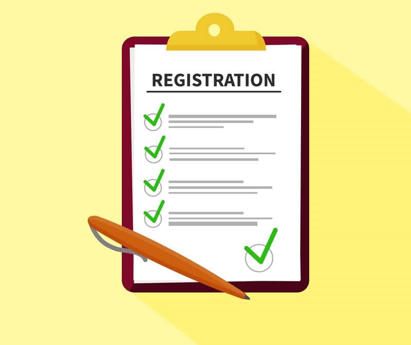 Registration of Participants Step